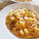 REIの料理教室 野菜のスープパスタ